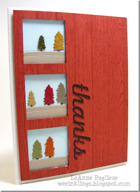 LeAnne Pugliese WeeInklings Paper Players 269 Fabulous Four Hardwood Fall Thanks Stampin Up