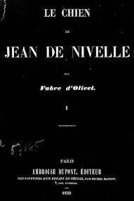 Cover of Fabre d'Olivet's Book Le Chien de Jean de Nivelle I (1839,in French)