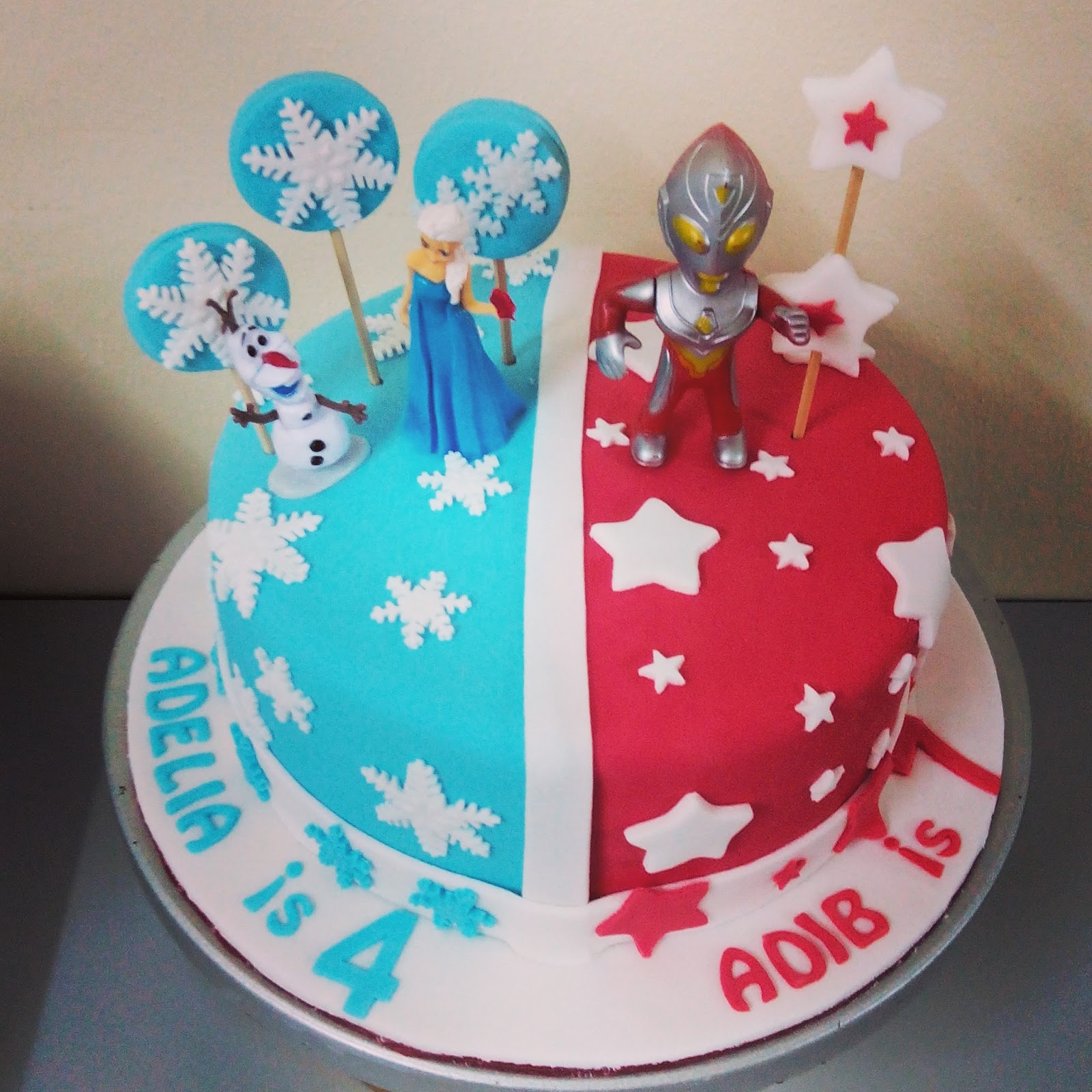 szcutesweet Ultraman dan frozen cake