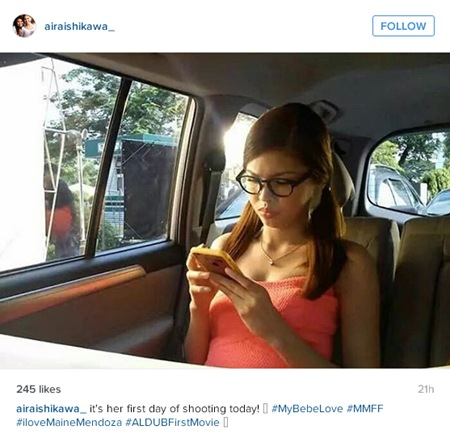 Maine Mendoza starts shooting My Bebe Love