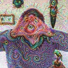 "Deep Dream ""Extra Trippy"" version of my Selfportrait"