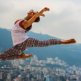 Jump by Vladislav Matvienko - People Musicians & Entertainers ( sea, lebanon, women, dance, jump )