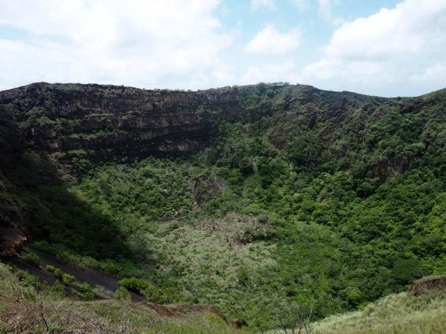 Dormant crater of Masaya volcano near Granada, Nicaragua