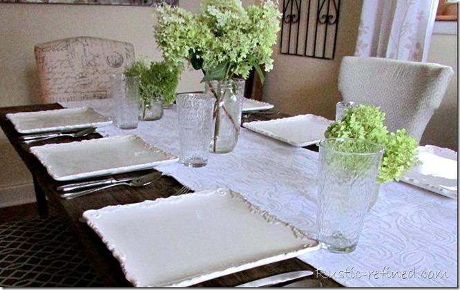 Farmhouse Table setting Idea