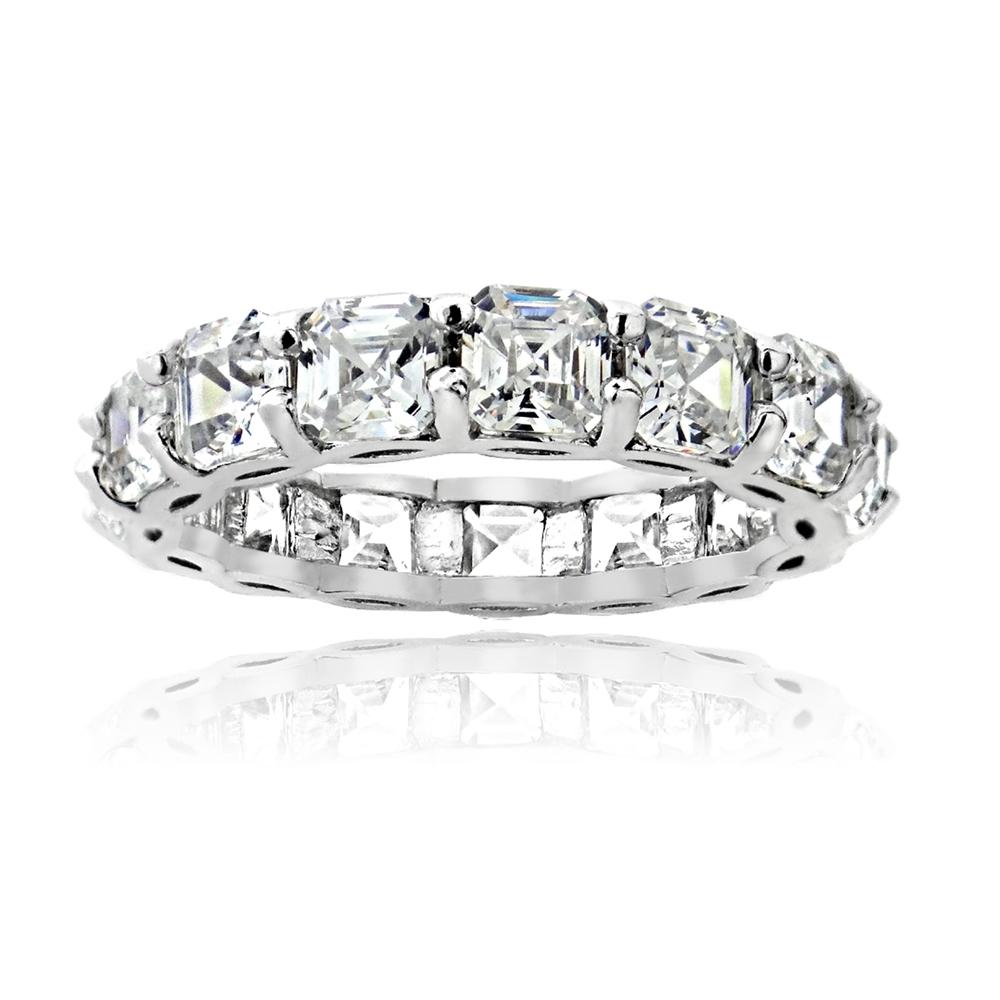 cz wedding band CZ Eternity Wedding Band Ring main image