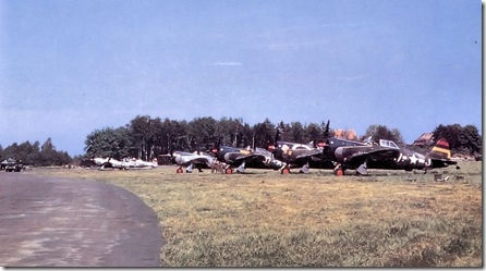 Nordholz - 406th_Fighter_Group_P-47_Thunderbolts_June_1945