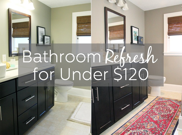Bathroom Refresh - Before and After