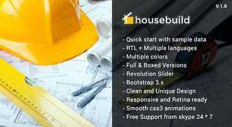 Housebuild - Construction Joomla Template
