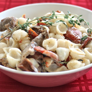 Orrechiette with Sundried Tomatoes and Porcini