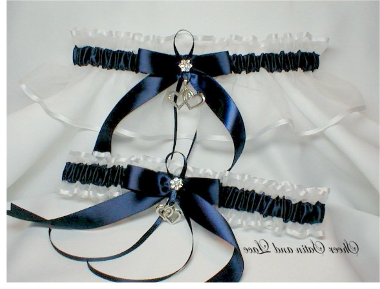 Double Heart Wedding garters