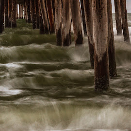 by Allen Wesley - Buildings & Architecture Bridges & Suspended Structures ( water, waterscape, waves, buildings, pier, architecture, bridges, suspended structures, structures )