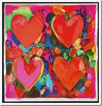 Jim Dine, Four hearts