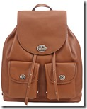 Coach tan leather backpack