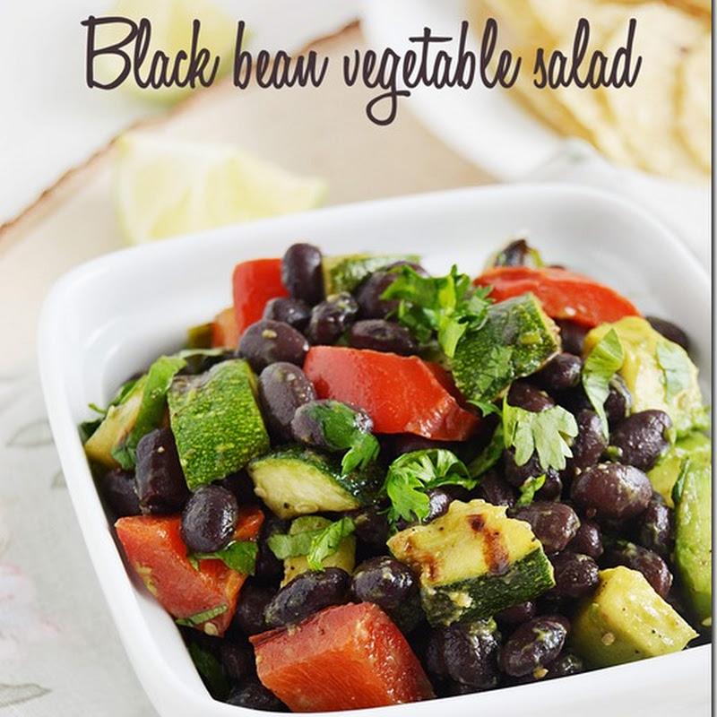 Black bean vegetable salad