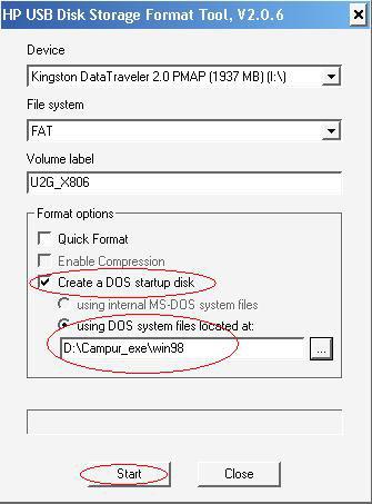 dos file system vista