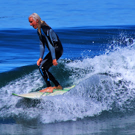 Yeah! Nice Ride. by Jim Johnston - Sports & Fitness Surfing