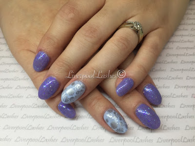 liverpoollashes cnd shellac wisteria haze creekside lecente baby blue glitter