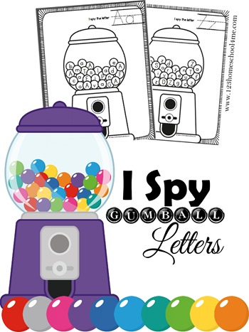 FREE Alphabet Gumball letters worksheets are super cute! These are such a fun way for toddler, preschool, and kindergarten age kids to reinforce letters (free printable)