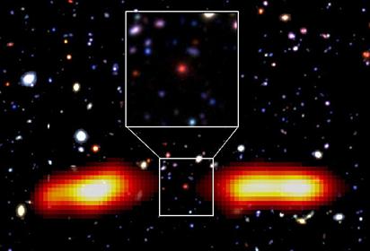 radiogaláxia com lóbulos de rádio
