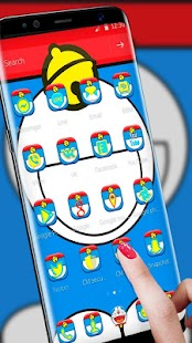 Blue Cat Launcher Theme & Blue Cute Cat Theme