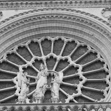 Notre Dame in BW