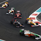 Several F1 cars