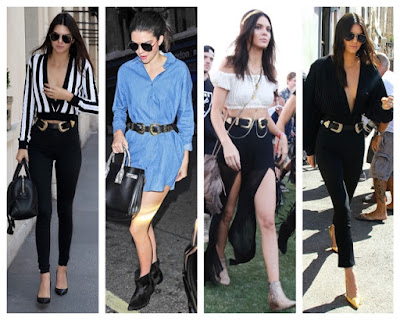 Look for Less: Kendall Jenner in B Low the Belt Bri Bri Double Buckle Belt