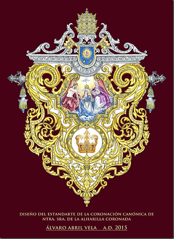 diseño estandarte coronacion canonica alharilla alvaro abril vela