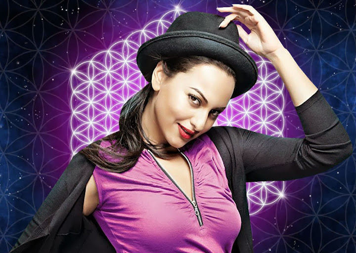 Sonakshi Sinha Beautiful Wallpapers In Purple Jeans Top With Black Cap