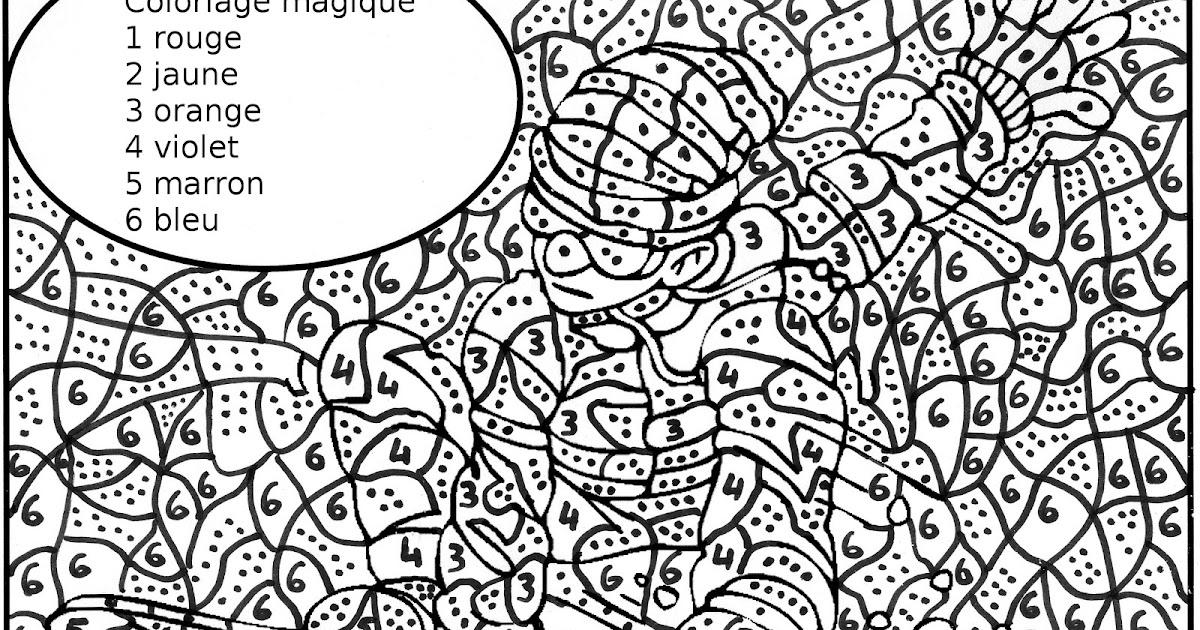 Dessin de skieur a colorier - Coloriage magique difficile a imprimer ...