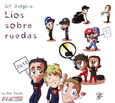 анимешный рисунок Noe Izumi по Гран-при Бельгии 2011