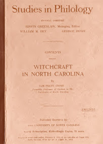 Cover of Tom Peete Cross's Book Witchcraft in North Carolina