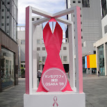 pink ribbon promo in osaka in Osaka, Osaka, Japan