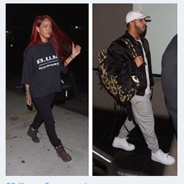 Rihanna Spotted In Studio With Drake