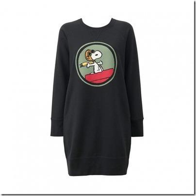 UNIQLO X Peanuts Women Sweat Pullover Dress 01