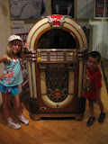Hannah and Bryan by a jukebox in the Country Music Hall of Fame in Nashville TN 09042011