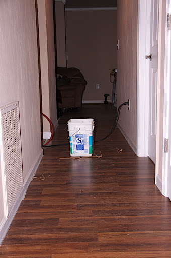 Hallway laid down.