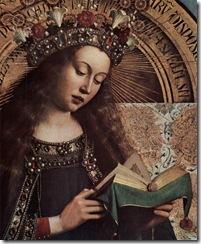 Jan van Eyck - The Ghent Altarpiece_ Virgin Mary _detail 2_