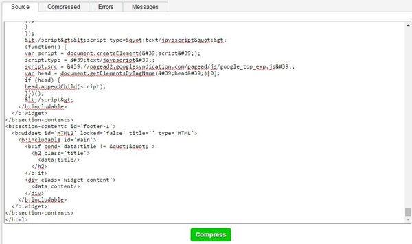 html compresser blogger