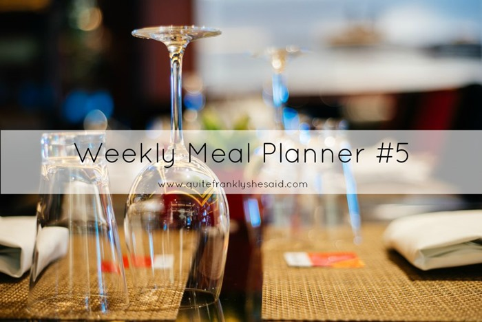 weekly meal planner 5