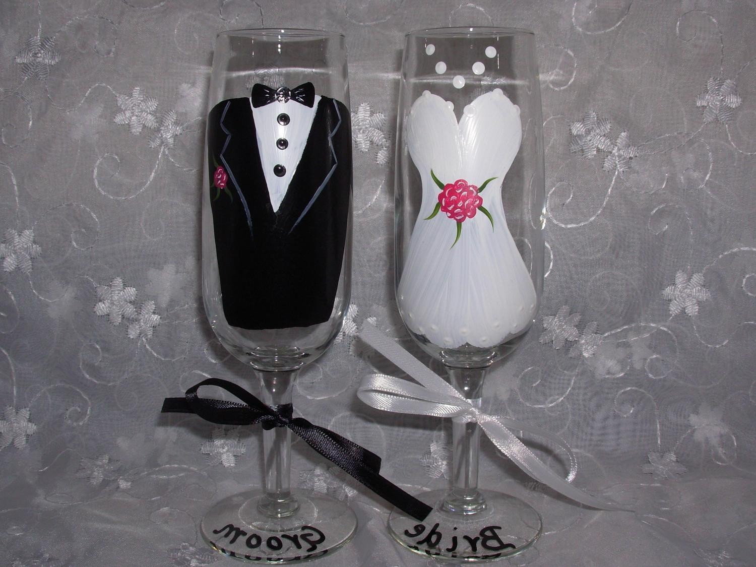 Bride and Groom Hand Painted