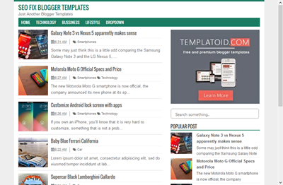 Template Blogger SEO Fix Responsif fast