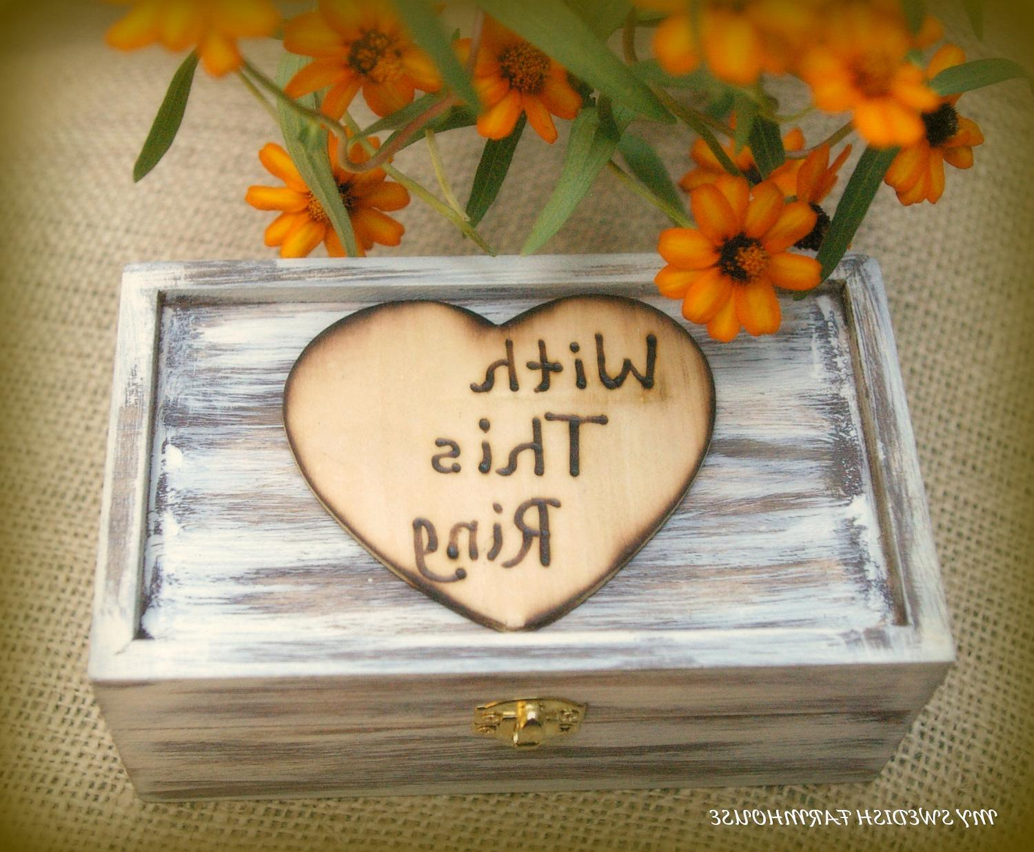 Ring Bearer Box Rustic Wedding