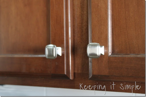 awesome How To Install Hardware On Kitchen Cabinets #7: Keeping It Simple Easy Way To Update A Kitchen How Install. Installing Knobs  On Kitchen Cabinets ...