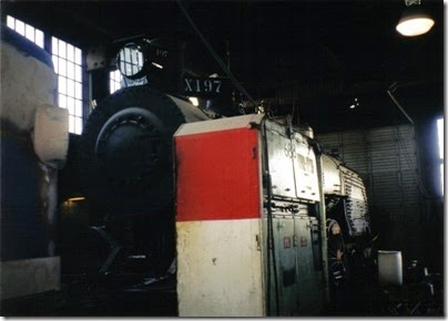 03 Oregon Railway & Navigation Company Baldwin P-77 Class 4-6-2 #197 at the Brooklyn Roundhouse in Portland, Oregon on August 25, 2002