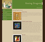 Boxing Dragons - Original Asian Art