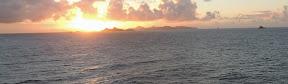 Sunrise over St Barth's