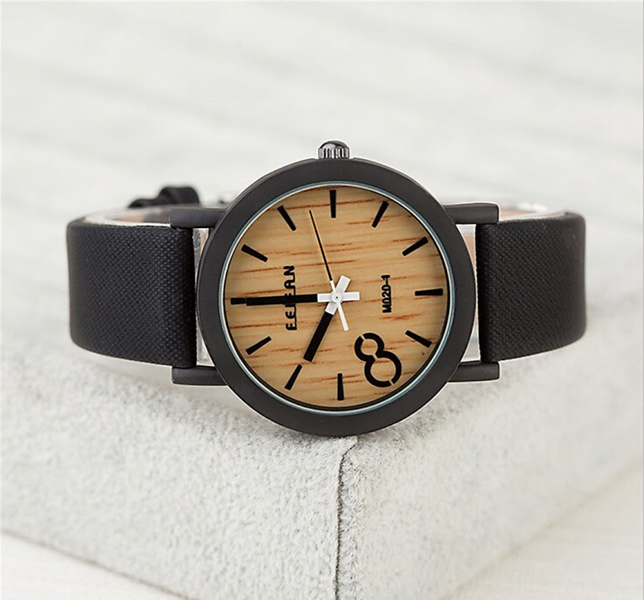 Armbanduhr Zifferblatt Holz ~ Armbanduhr Damenuhr Herrenuhr Unisex PU Armband Holz Zifferblatt Farbe