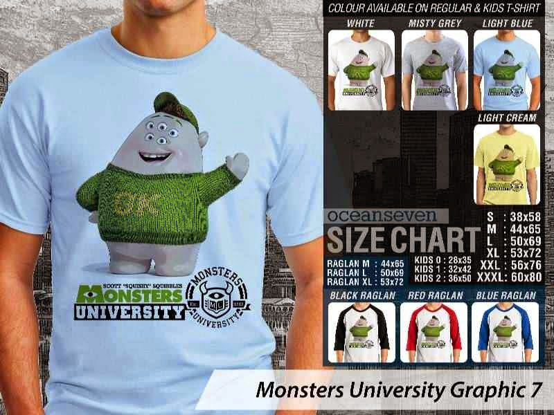 KAOS Monster University 17 Film Lucu distro ocean seven