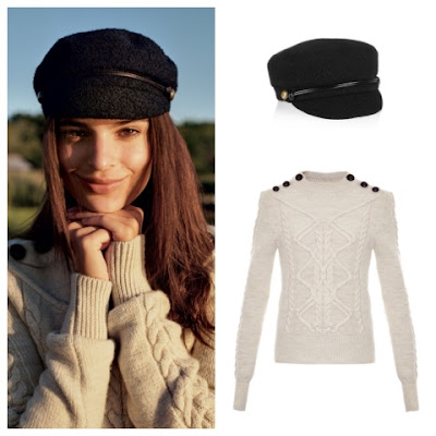 Emily Ratajkowski in Vogue November 2015 in Isabel Marant Dustin Sweater and Eugenia Kim Elyse Wool Cap